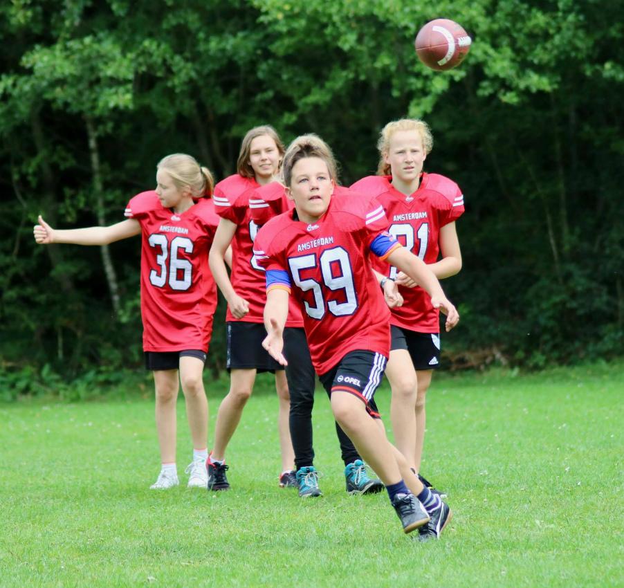 Proeflessen American Football voor kinderen