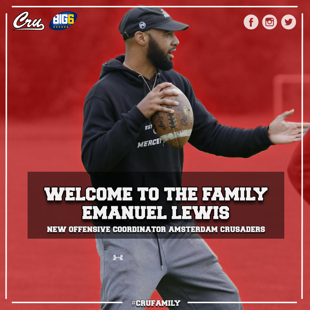 Lewis nieuwe offensive coordinator Amsterdam Crusaders
